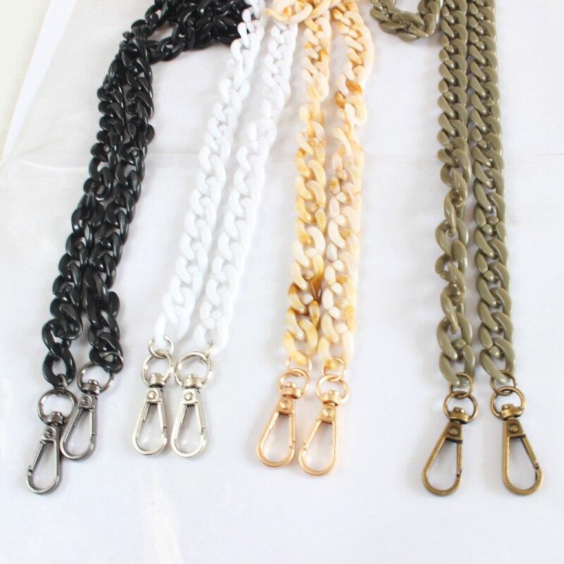 Women Shoulder Bag Strap Solid Or Mix Color Messenger Handbags Belts Fashion Acrylic Bag Chain Lady Bags Part Diy Accessories