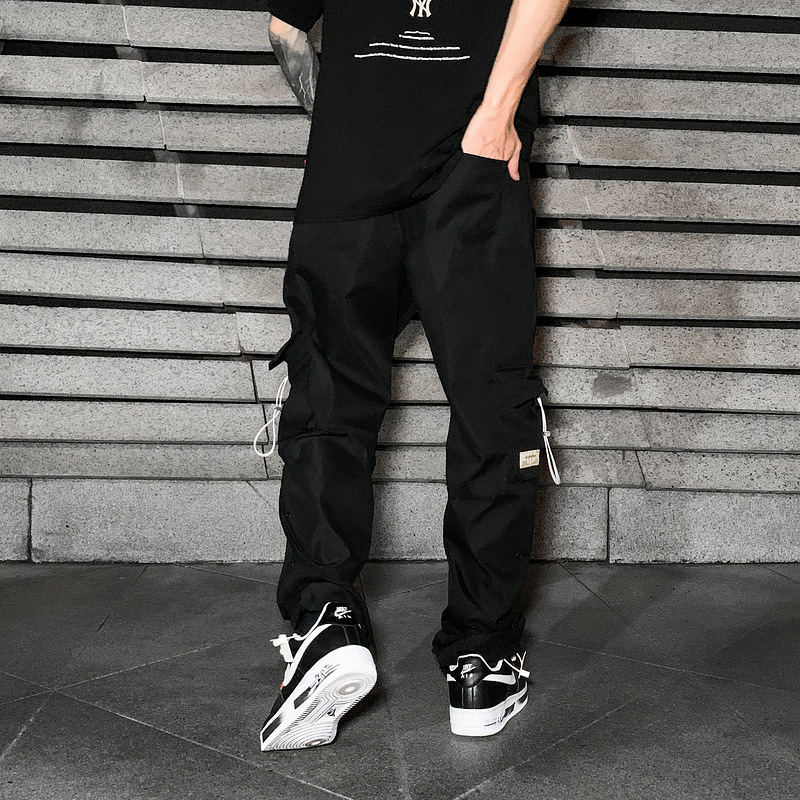 Hip Hop Multi Zipper Pockets Cargo Pants Joggers Harem Track Pant Tactical Streetwear Men Fashion Casual Trousers Sweatpants Men