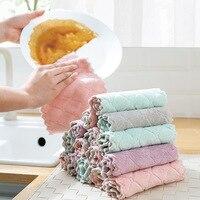 8 teile/los Hause mikrofaser handtücher für küche Saugfähigen dicker tuch für reinigung Micro faser wischen tisch küche handtuch waschen tuch