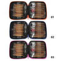 13 размеров бамбуковые иглы Сменные алюминиевые круглые спицы Набор колец для вязания крючком Пряжа свитер инструменты для плетения