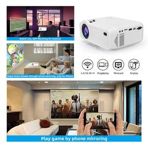 Image 2 - Salange P40W Video Projetor Led Mini Projector for Mobile Phone Beamer for Home Cinema, Support Wireless Sync Display