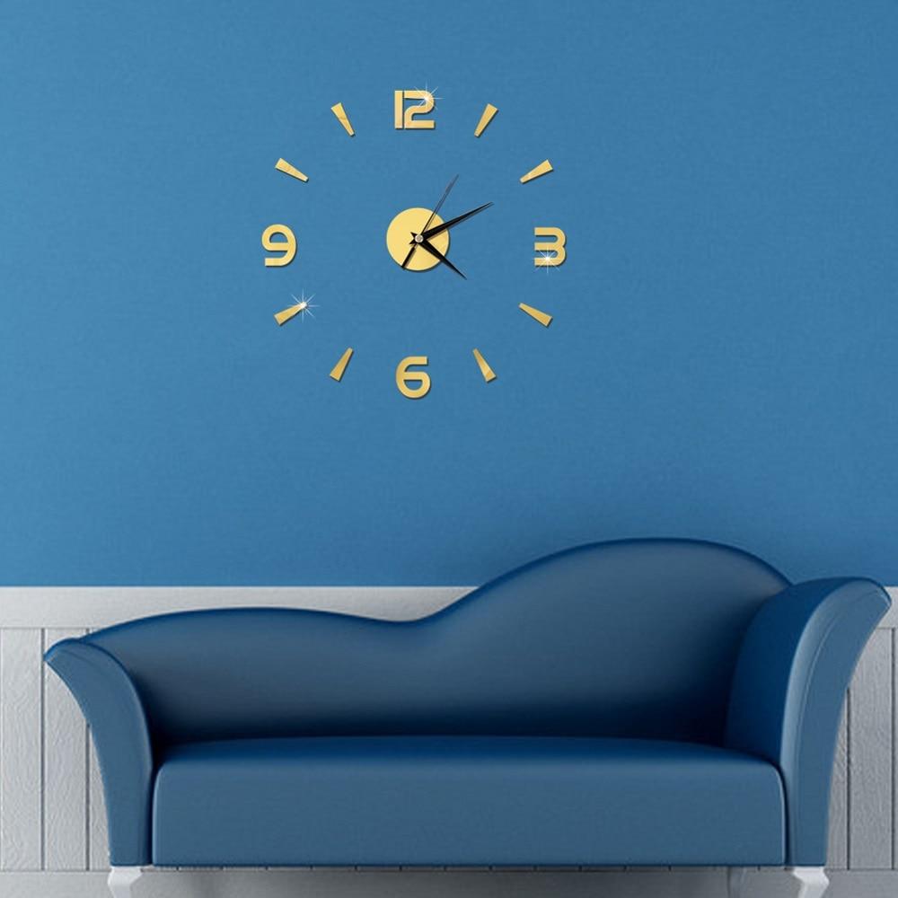 2019 New 3D Wall Clock Mirror Wall Stickers Fashion Living Room Quartz Watch DIY Home Decoration Clocks Sticker reloj de pared 10