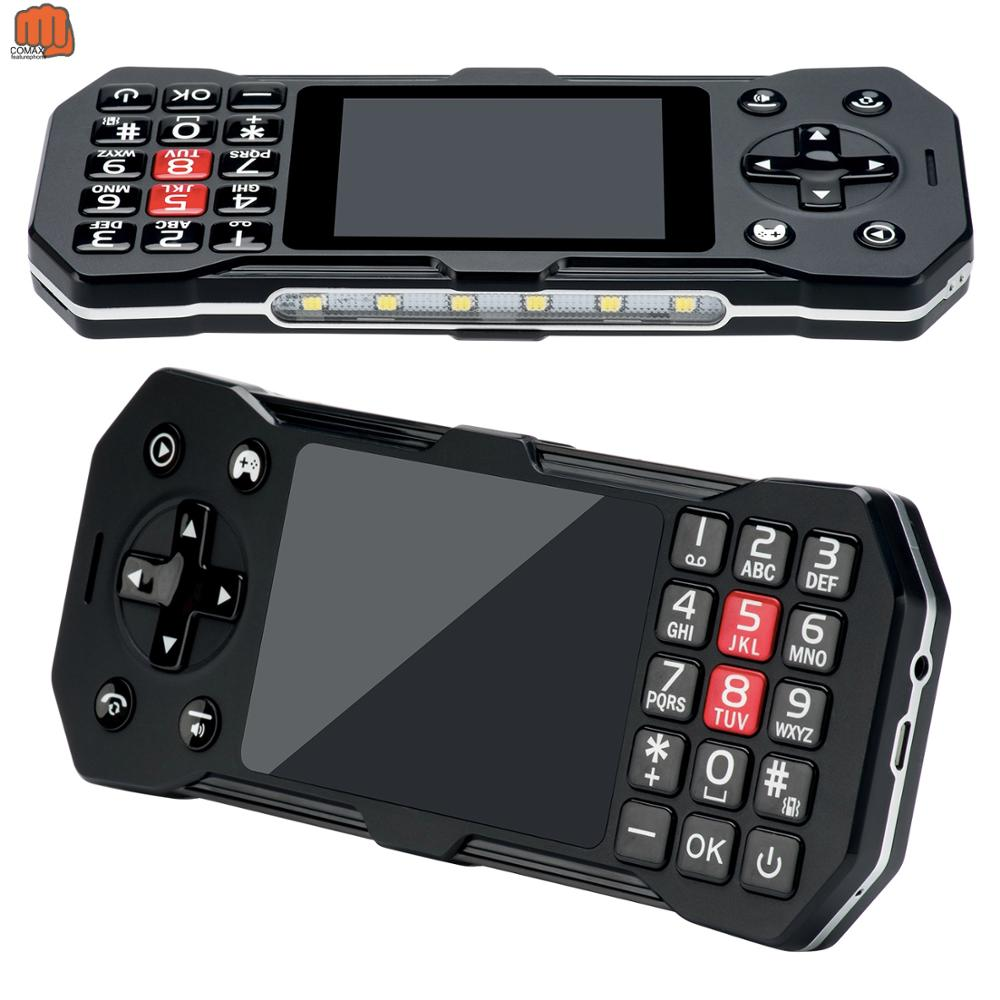 "2020 Portable Handheld Game Player KeyMobile Phone 2.8"" LCD Screen Cellphone Wireless FM Camera GPRS Torch 3SIM card 2500mAh GSM"