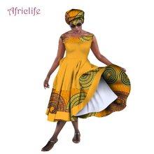 Robe de bal longue en cire pour femmes, de haute qualité, en Bazin Riche, africaine, à col bateau, robes traditionnelles, WY1415