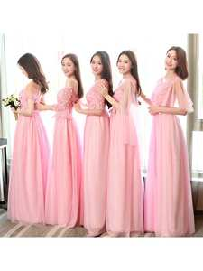 Bridesmaid-Dresses Party-Dress Prom-Sister Wedding Long Guest Robe Royal Tulle 930 Soiree