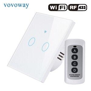 Image 3 - Vovoway האיחוד האירופי מגע מתג, מתג אור, WIFI רשת + טלפון נייד APP + RF אלחוטי שליטה פונקציה, 1gang2gang3gang AC110 V220V