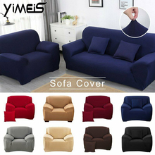 4 sizes elastic solid color sofa cover for u shape sofa cover l shaped stretch seater chair sofa cover pillow case Solid Non-Slip Sofa Slipcover 1 2 3 Seater Stretch Chair Sofa Cover Protector Couch Sofa Chair Elastic Stretch Covers 18 Color