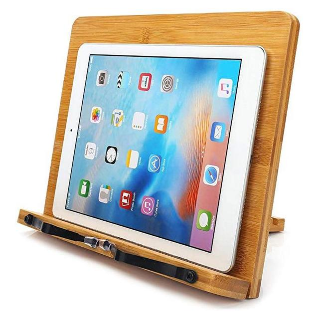 Adjustable Bamboo Reading Book Stand