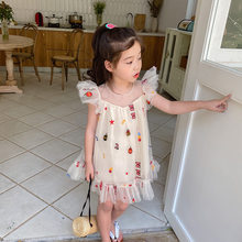 Toddler Girl Dress Fashion Mesh Princess Dress for Girl Kids Clothing Summer Baby Girl Dresses 2 3 4 5 6 Years Child Dress 2020(China)