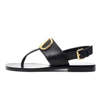 brand designer leather flat flip sandals 2020 summer shoes women metal v slides & ladies slippers fashion luxury with logo футболка flip switch logo slate