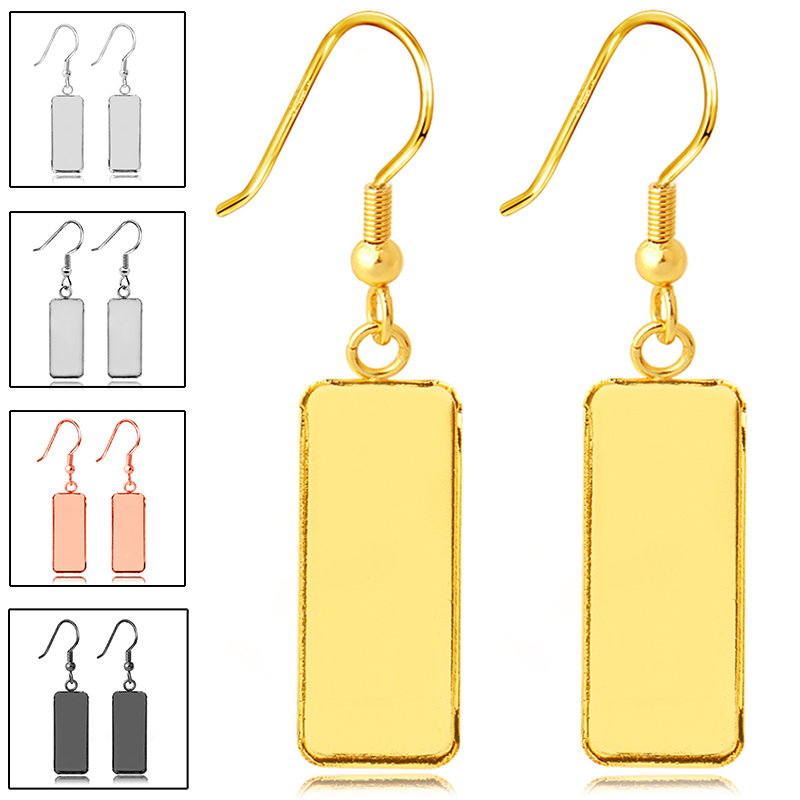 10 шт. разъем из нержавеющей стали подходит для 10x25 мм прямоугольная пустая рамка основа для кабошона для серег лоток для DIY серьги подарок