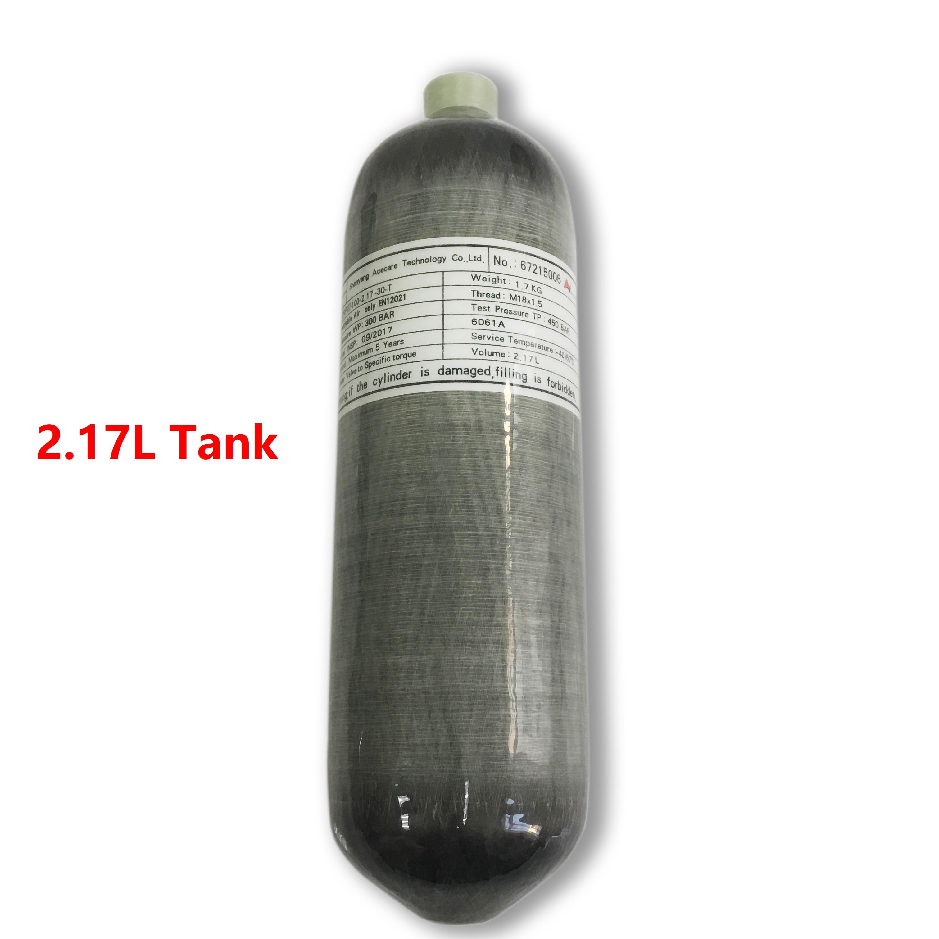 AC1217 Scuba Diving Tank 2.17L CE Pcp Oxygen Cylinder Air Tank Pcp Airforce Condor/Rifle Airgun High Pressure Air Rifle Pcp
