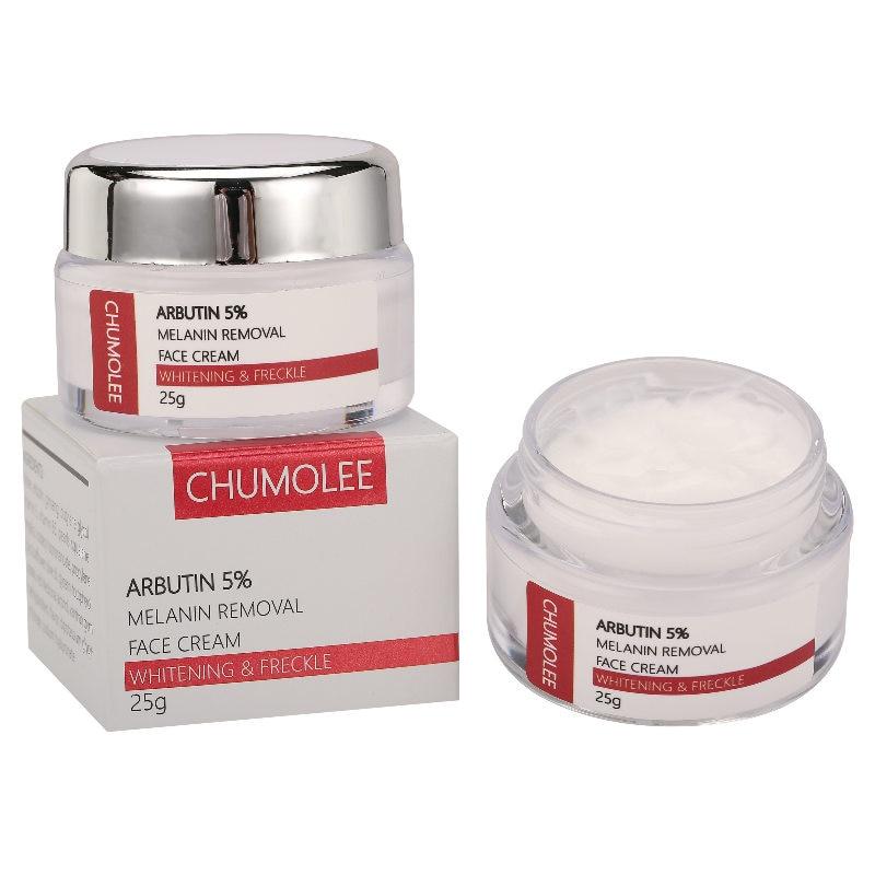 CHUMOLEE Arbutin 5% Whitening Freckle Facial Cream Fade Melasma Remove Acne Dark Spots Melanin Pigment Moisturizer Face Care