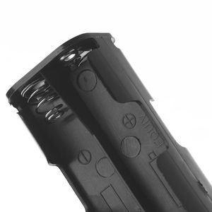 Image 4 - 1 Pc סוללה תיבת ארוך רצועת 8x AA מקרה מחזיק 12V כפול צד חזרה אחסון 9V כפתור מיכל DIY הלחמה חיבור
