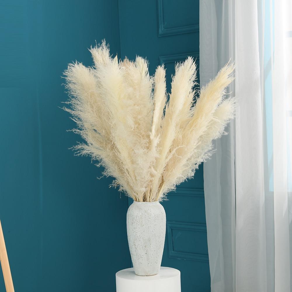 80 см настоящие сушеные Pampas трава свадьба цветок букет натуральный декор из растений сушеные цветы семейные украшения большой бык Быстрая д...