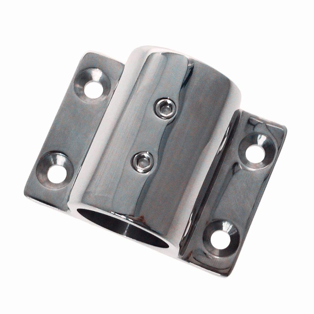 90 Degree Stainless Steel Rectangular Base 7//8 Inch Rail Fitting for Boats