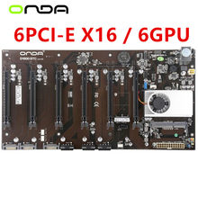 6GPU 6PCIE 6Video PCI-E X16 per scheda madre Onda D1800 BTC Intel B250 Socket LGA 1151 DDR3 scheda madre Desktop originale