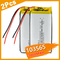 2 шт. 103565 3,7 V литий-полимерная батарея 3000 мАч DIY мобильный аккумулятор питания зарядки аккумулятора сокровище для DVD GPS камера PSP электронная к...