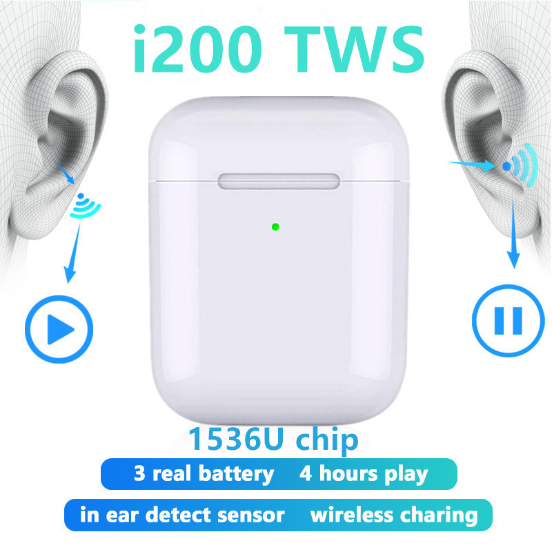 <font><b>Original</b></font> i200 <font><b>TWS</b></font> Wireless Headphones 1:1 copy Bluetooth Earphone charging Earbuds Headset For iPhone xiaomi PK i500 <font><b>i12</b></font> i10 <font><b>TWS</b></font> image