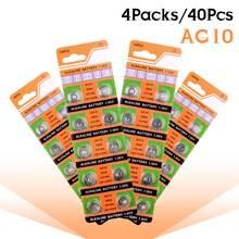 40Pcs AG10 Alcalina Botão Batteria LR1130 V10GA 389 390 LR54 AG10 G10A SR1130 LR1130 390A D189 Para Medidores De Teste De Colesterol