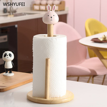 Cartoon paper towel rack kitchen table bathroom desktop creative cute vertical paper towel oil absorbing paper special frame