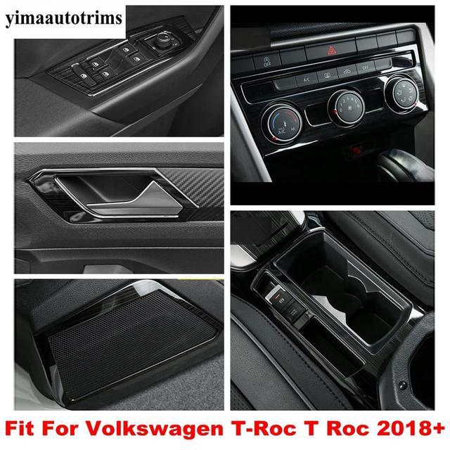 Yan kapı ses ses hoparlör/iç kol kase çerçeve paslanmaz çelik kapak Trim Volkswagen T Roc T Roc 2018   2021