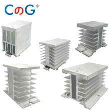 Radiator With Rail Clamp For Single Phase 10A 25A 40A 60A 80A 100A 200A 400A Aluminum Heat Sink SSR 25AA 40DD Solid State Relay