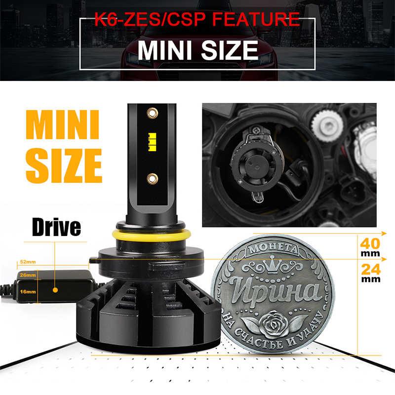 hlxg Mini H4 Led H7 with Lumileds ZES 5000K LED 12000LM 72W/set Lampada H1 Bulb HB3 9005 9006 hb4 Fog Light 4300K H8 H11 6500K