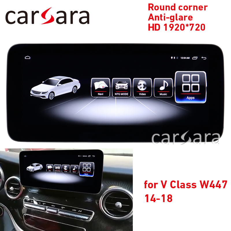 <font><b>Android</b></font> dashboard audio system V class <font><b>w447</b></font> round corner NTG5 display Vito anti-glare 4g ram monitor V200 car navigation CD V220 image
