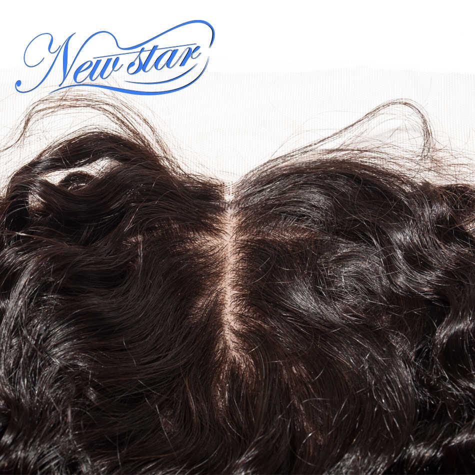 Brasil Pusat Sutra Frontals Gelombang Dalam Bintang Baru Rambut Digunakan Dipetik Rambut Penutupan Dikelantang Knot 100% Perawan Rambut Manusia