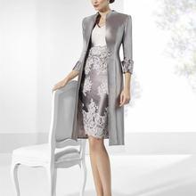 2020 элегантные серые кружевные платья для матери невесты под