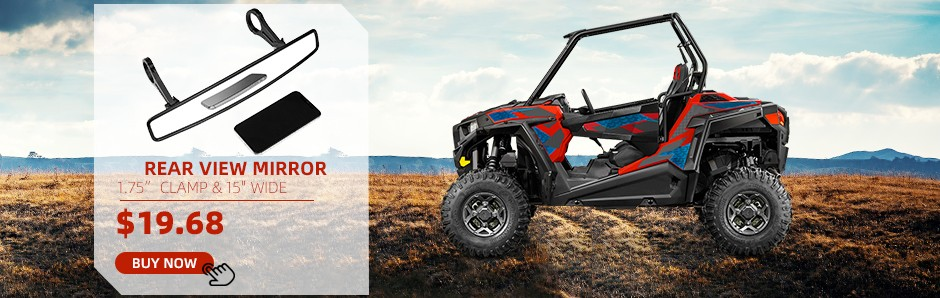 Yamaha Rhino UTV Break-Away Side Mirror Qty-2 Shatter-Resistant Black New
