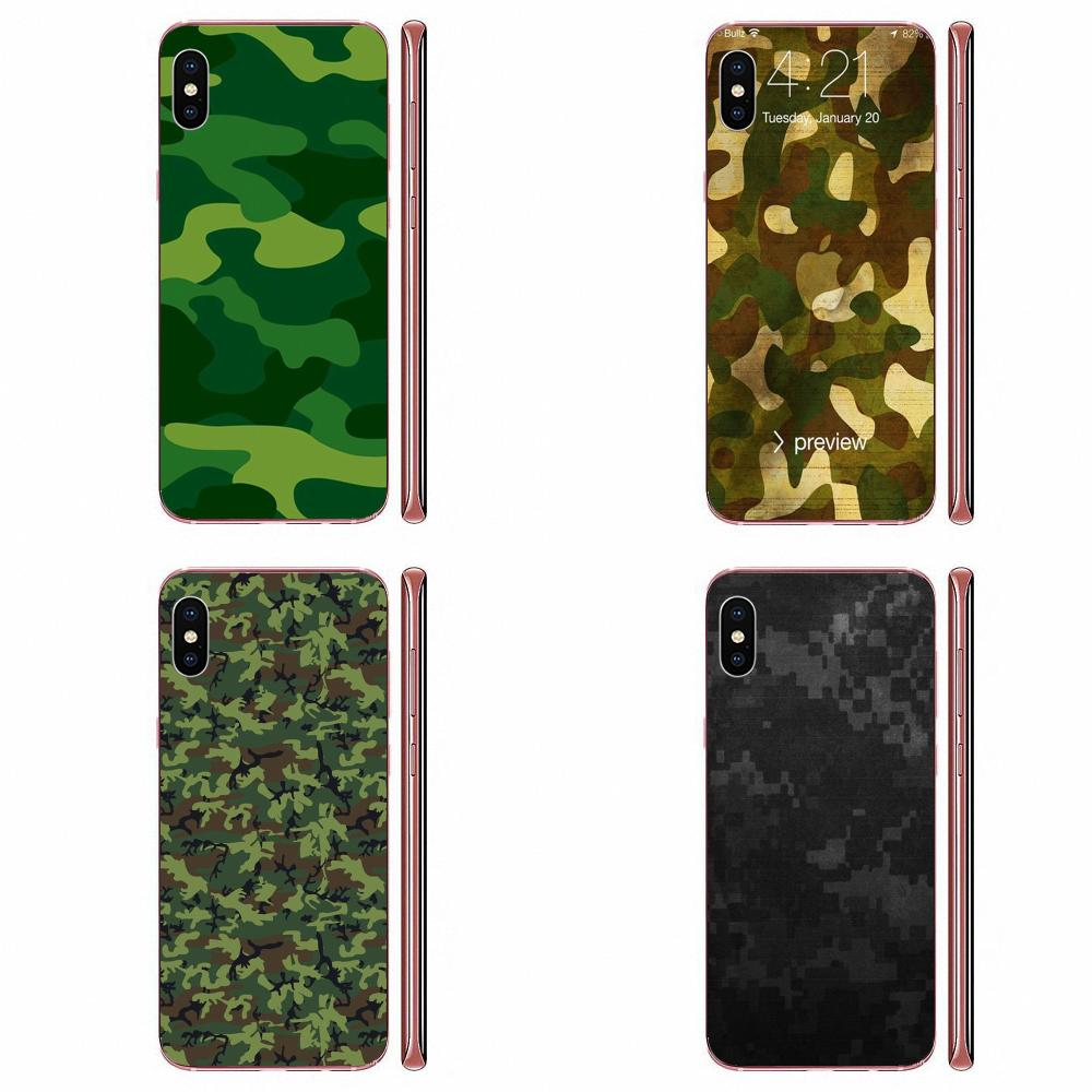 Camo Camouflage Pattern TPU Mobile Cases Covers For LG K50 Q6 Q7 Q8 Q60 X Power 2 3 Nexus 5 5X V10 V20 V30 V40 Q Stylus