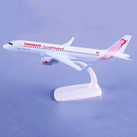 1:400 Scale 20CM Airbus A320 Airlines Aviation Model Alloy TUNISAIR Tunisia Aircraft Collection Kids Children Toys F Fans Gifts
