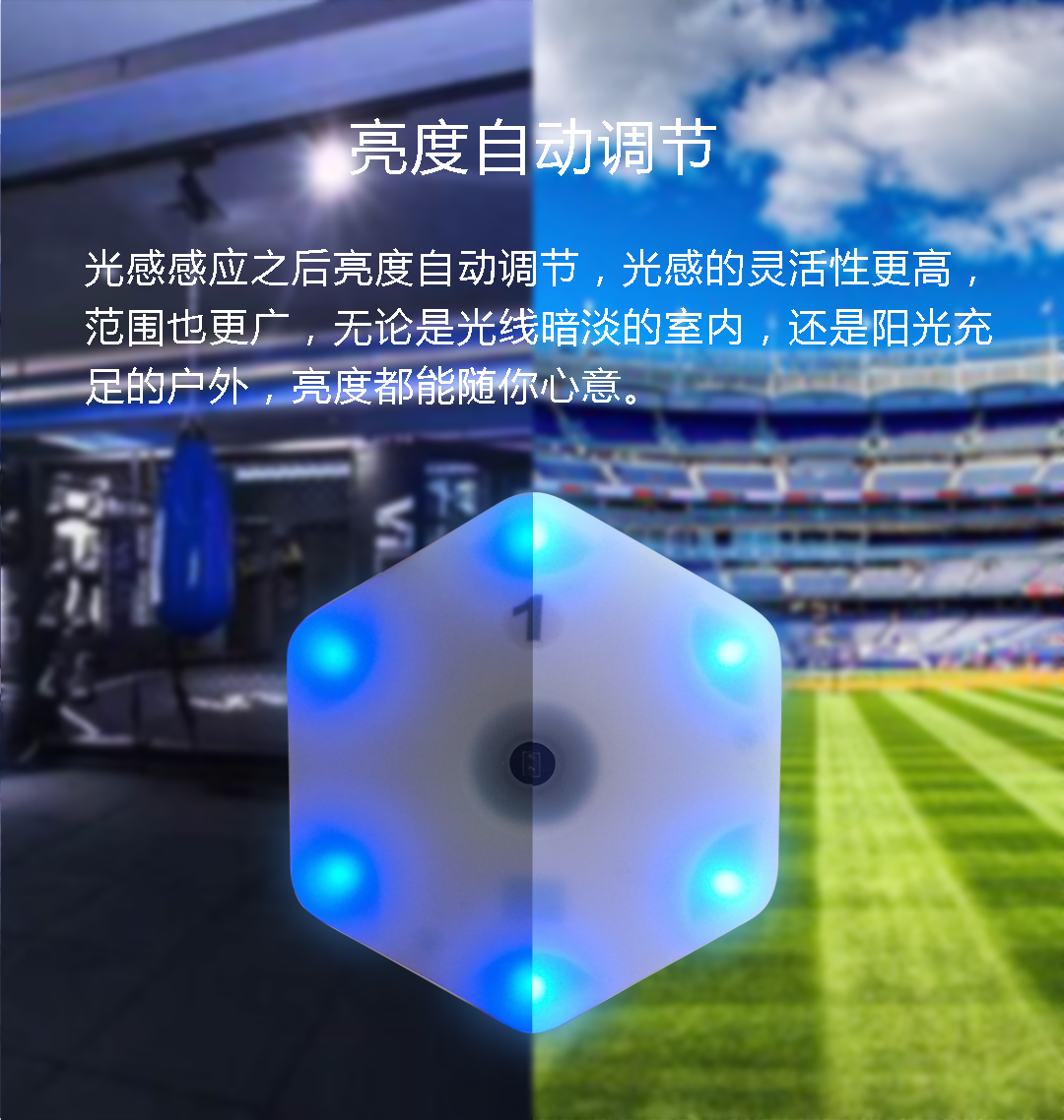 【queling】reaction training light lamp speed agility  response equipment basketball boxing fitlight blazepod siboasi 2.0-1