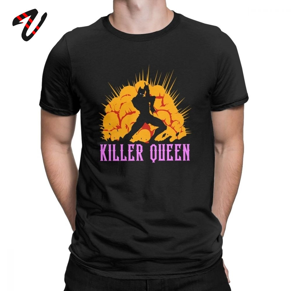 Anime Tshirt Jojo Bizarre Adventure Killer Queen T Shirts For Men High Quality Clothes Short Sleeve T-Shirt Japanese Cotton Tees