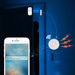 Image 2 - KERUI Tuya Multifunctional Gateway WIFI Home Security Intelligent Smart Alarm System Work With Google Assistant/Alexa Control