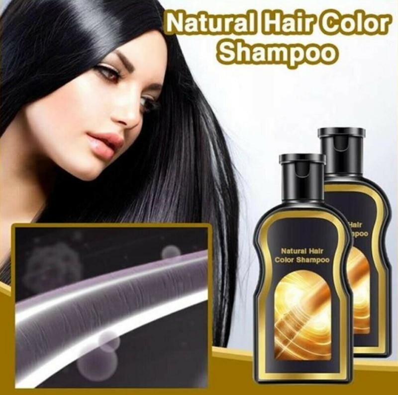 2020 NEW 30ml Grey Reverse Hair Color Shampoo Natural Darkening Shampoo