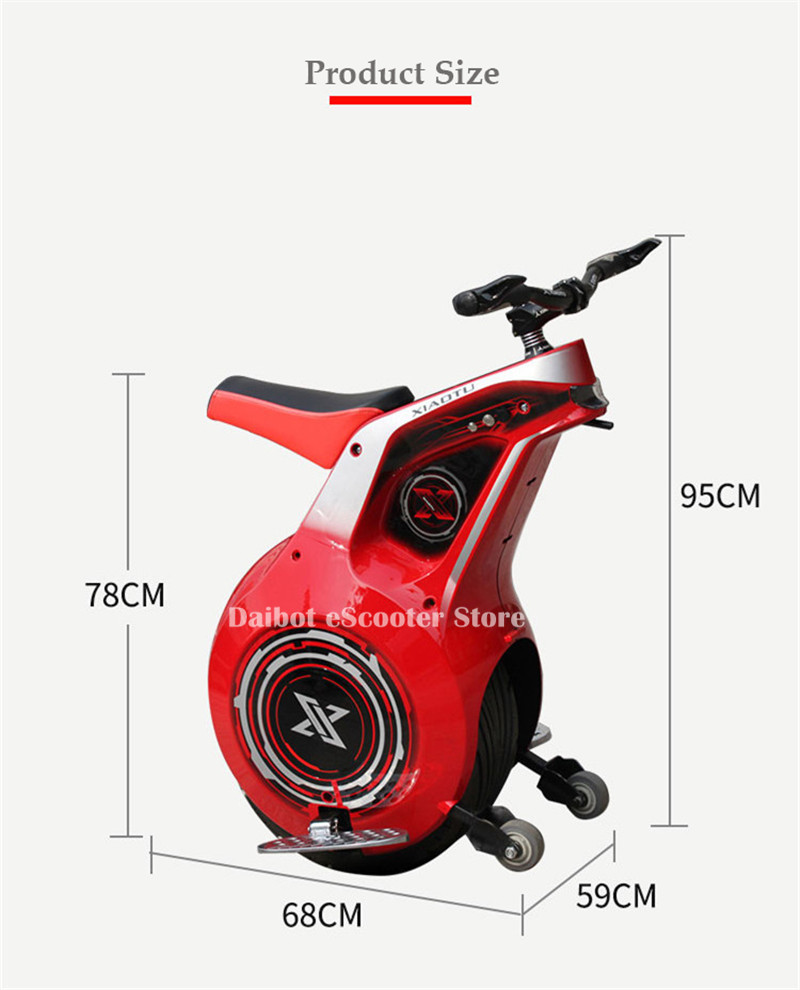 Powerful Electric Scooter One Wheel Self Balancing Scooters 19 Inch Motorcycle 800W 60V Electric Unicycle Scooter With APP (4)