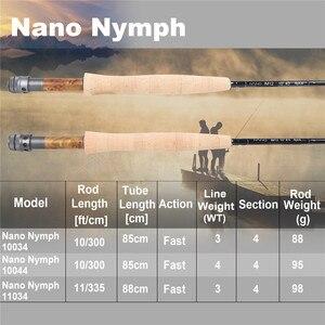 Image 2 - Maximumcatch NANO nimfa 10FT/11FT 2/3/4wt Fly Fishing Rod IM12 grafitowy z włókna węglowego szybka akcja haczyk na muchę z Cordura rury