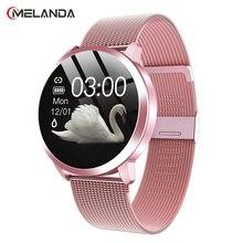 2021 moda kobiety inteligentny zegarek wodoodporny pulsometr Monitor ciśnienia krwi Smartwatch prezent dla pań bransoletka do zegarka