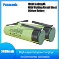 Panasonic NCR18650B новый оригинальный 3,7 v 3400mah 18650 литий-ионный аккумулятор для сварки никель лист батареи