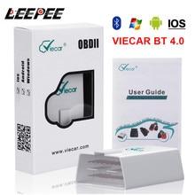 LEEPEE Viecar ELM 327 V1.5 OBD2 קוד קוראי Bluetooth 4.0 OBDII סורק רכב כלי אבחון עבור אנדרואיד/IOS