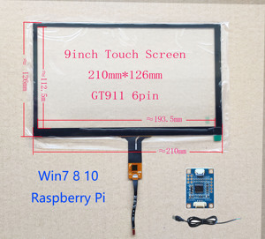 9inch USB Touch Screen 210*124mm Universal GT911 FPC 6pin USB Controller Board Card Support Raspberry Pi Android linux(China)