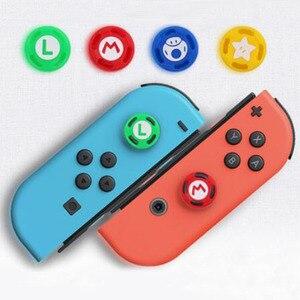 Image 3 - Silicone Thumb Stick Grip Caps Analog Joystick Cover Case For Zelda Mario Nintend Switch NS JoyCon Controllers Joy Con Joypad