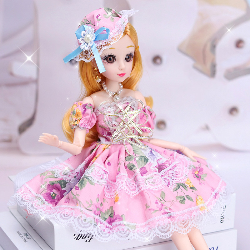 36CM BJD Doll Set Gift Box DIY Toy Makeup Dress Up Doll Accessory Girl Play Toys Princess Dolls For Children's Gift