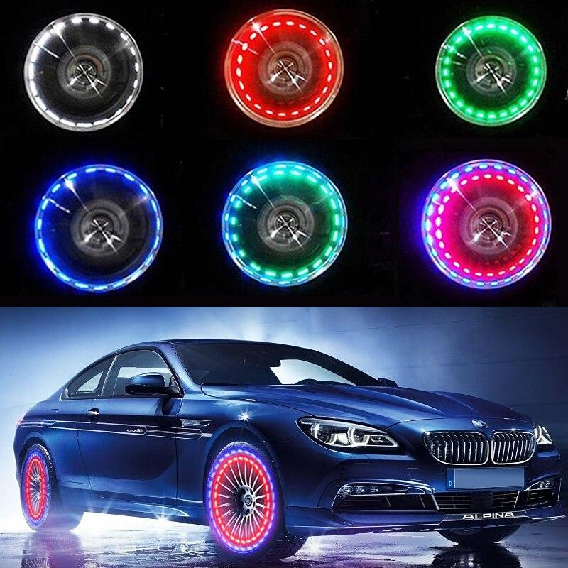 Solar LED Valve Light Wheel Decorative Lights Strobe Lights Colorful Hot Wheels