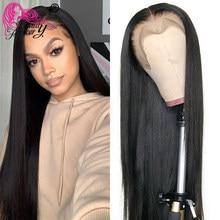Güzellik sonsuza perulu 360 dantel ön peruk Remy düz peruk 360 dantel Frontal İnsan saç peruk siyah kadınlar için