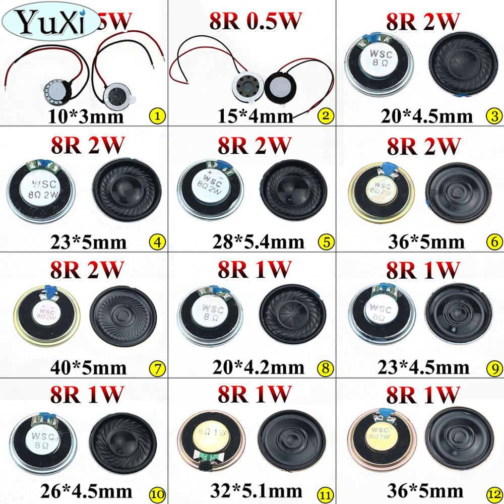 YuXi 0.5W 1W 2W 8R Mini Speaker 8 Ohm Ultra-thin Horn Speaker Diameter 10mm 15mm 20mm 23mm 26mm 28mm 32mm 36mm 40mm Loudspeaker