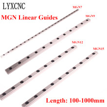 MGN Miniature Linear Rail Without Slider Block MGN7 MGN9 MGN12 MGN15 Linear Guide Length100mm-1000mm For CNC 3D Printer